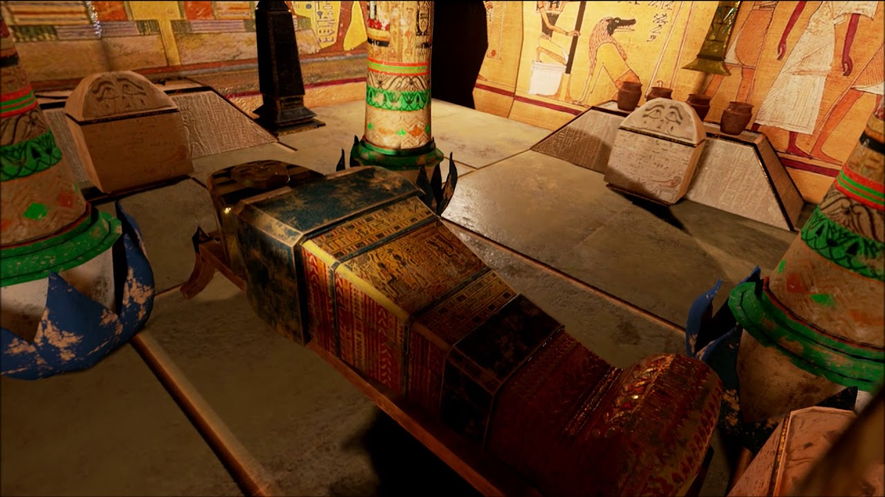 egyptian tomb interior diorama youtube