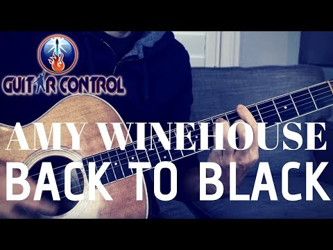 How To Play Amy Winehouse's Back To Black On Guitar - Beginner Acoustic Guitar Lesson