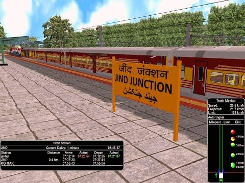 22896/Firozpur - Bilaspur Antyodaya Express From Jakhal Junction || IR In MSTS  Open Rail