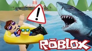 MEGALODON SHARK vs rubber ducky in Roblox SharkBite!