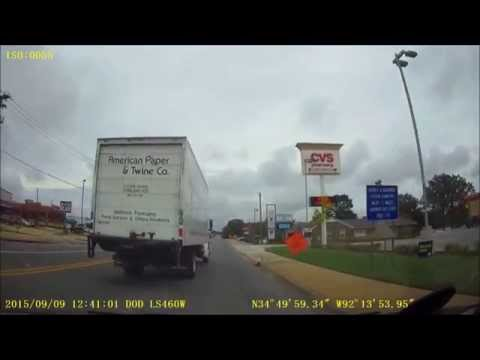 9-9-2015-A  American Paper Twine Box Truck runs red light.