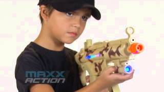 "Gambar cover Maxx Action 24"" Toy Tactical Machine Gun with Electronic Sound, Lights, and Vibration"