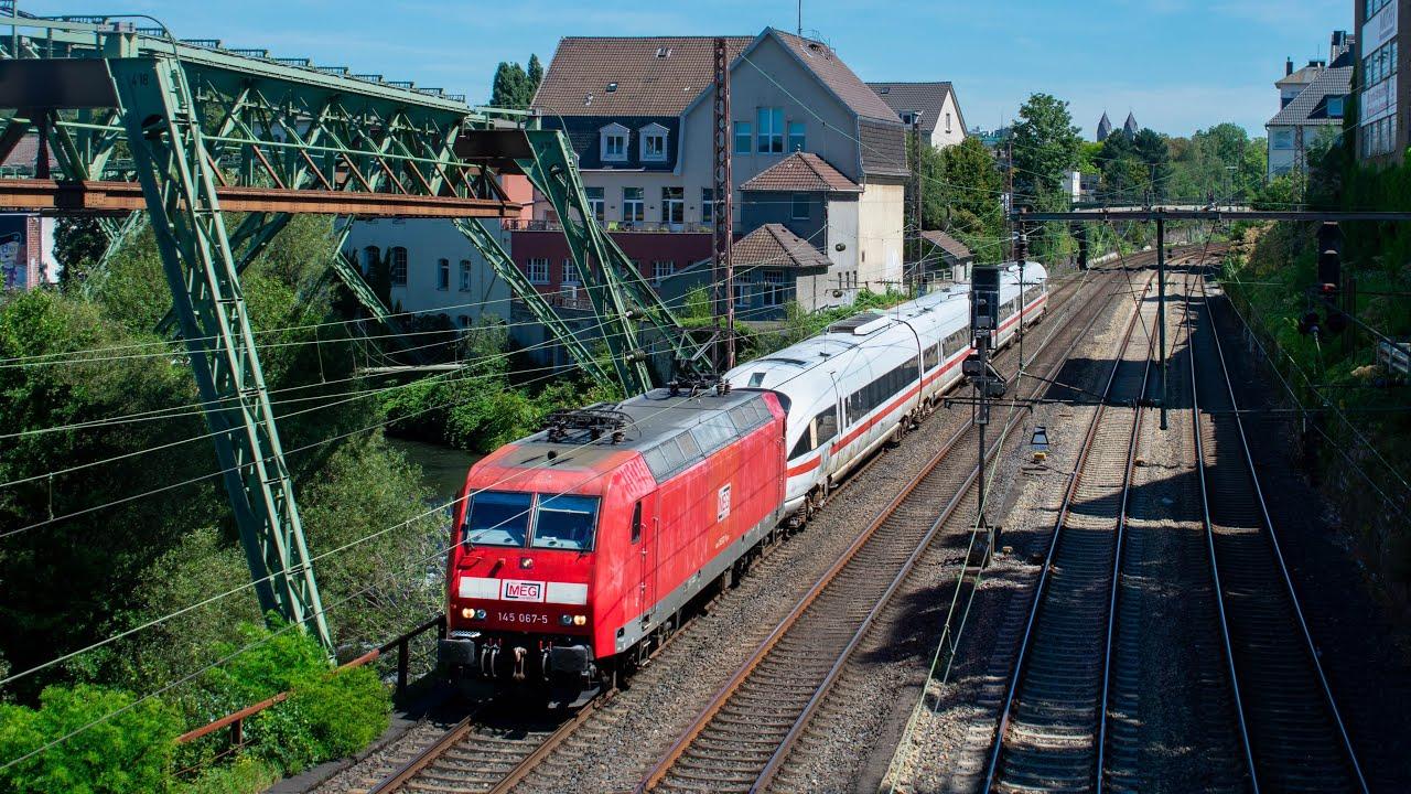 MEG met ICE TD overbrenging in Wuppertal Barmen+andere treinen