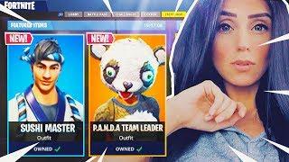 NEW PANDA SKIN & SUSHI MASTER SKIN IN FORTNITE BATTLE ROYALE!!!