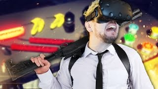 DON'T TRUST JACK WITH GUNS | Hot Dogs Horseshoes & Hand Grenades (HTC Vive Virtual Reality)
