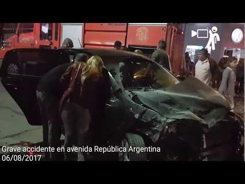 Accidente en avenida República Argentina