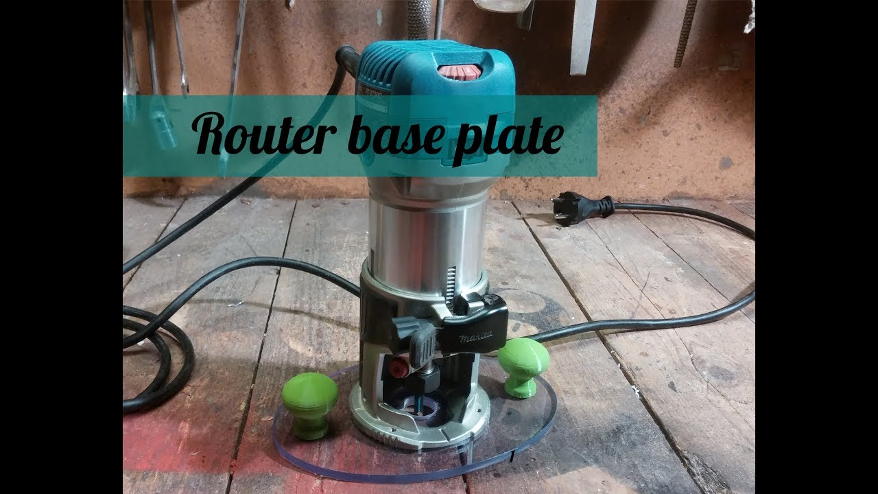 Diy router base plate for freehand carving youtube diy router base plate for freehand carving greentooth Image collections