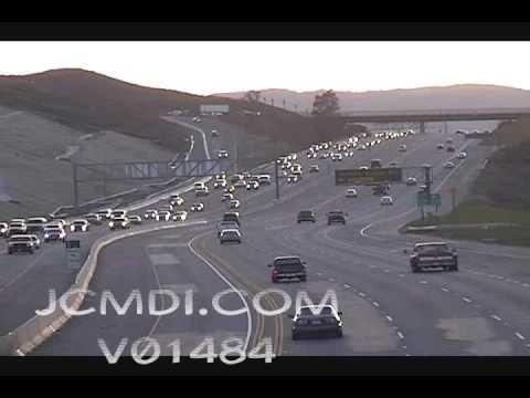 Time lapse traffic Antelope Valley freeway 14 V01484