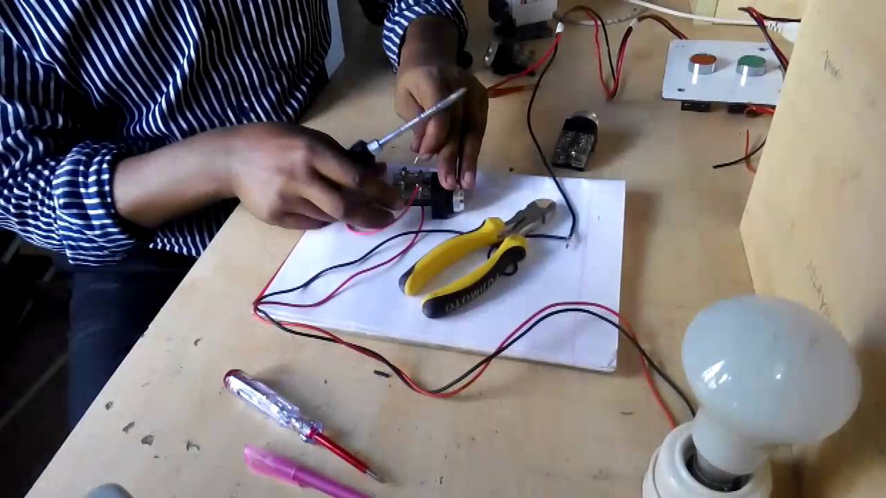 Push Button Switch Connection- Motor Controlling- Ac Motor Control ...