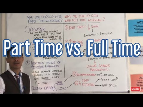 Part Time Workers Vs. Full Time Workers (Pros & Cons)