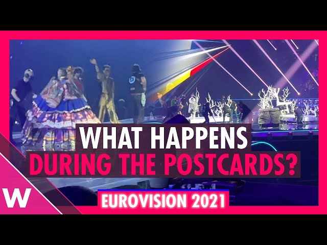Eurovision 2021: What happens on stage during the postcard segments?