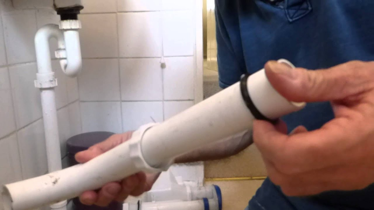 How to fix a flush pipe leaking on the back of the WC pan