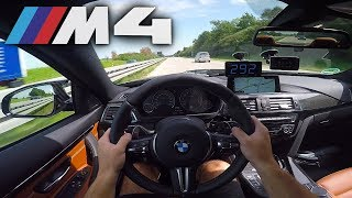BMW M4 Competition pushing on German Autobahn✔
