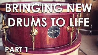 Building Handmade Stave Shell Drums - Behind the Scenes with d'Evercy Drums UK (Part 1)