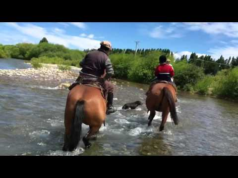 Horseback riding in Bariloche, Patagonia with Ariane