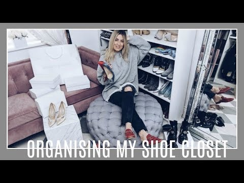 ORGANISING MY SHOE CLOSET AND LUISA VIA ROMA REVEAL | IAM CHOUQUETTE