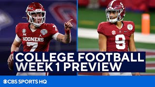 College Football Week 1 Preview and Picks | CBS Sports HQ screenshot 2