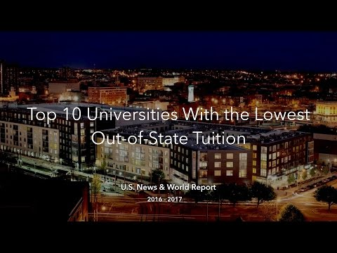 Top 10 Universities With the Cheapest Out-of-State Tuition
