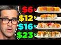Frozen vs. Fast vs. Fancy Food Taste Test (Sushi)
