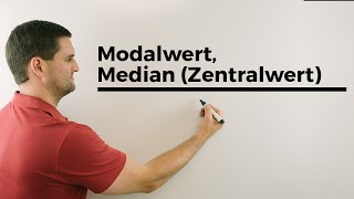 Modalwert, Median (Zentralwert), Statistik, Hilfe in Mathe, einfach erklärt | Mathe by Daniel Jung