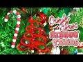 DIY Easy Christmas Tree Ornaments // Candy Canes & Ribbon Trees // Christmas 2018