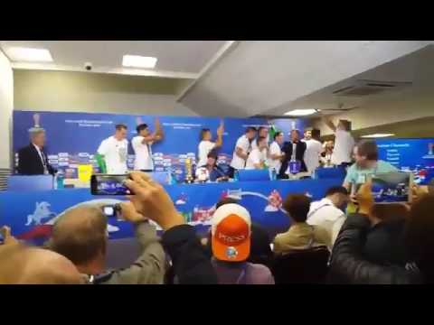 Germany national football team at Joachim Loew Press Conference - Confederations Cup - 03/07/2017