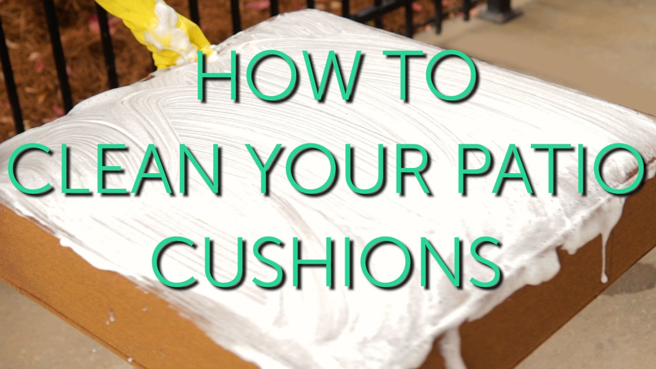 How To Clean Your Outdoor Cushions | Patio Repair U0026 Maintenance