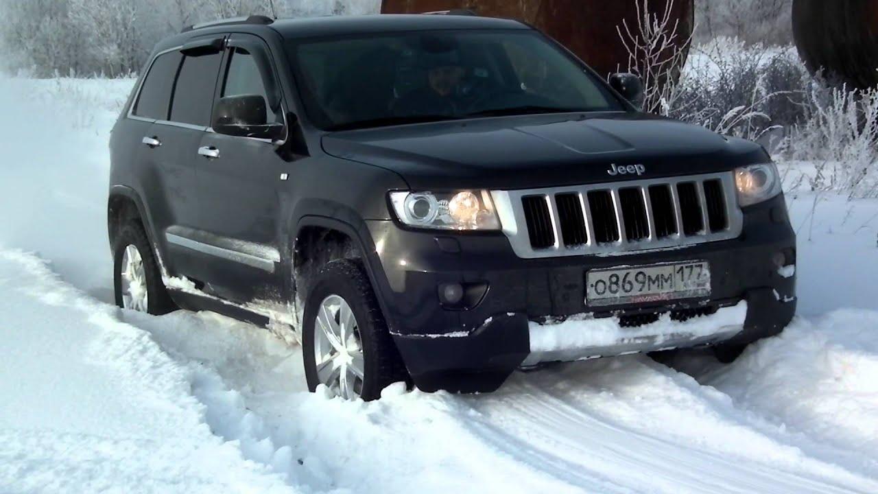 Jeep Cherokee Vs Grand Cherokee >> jeep grand cherokee wk2 snow - YouTube
