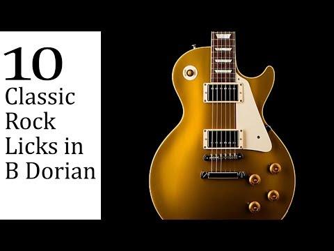 10 Classic Rock Licks in B Dorian