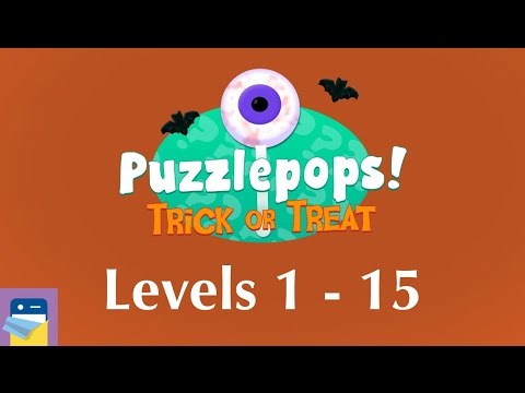 Puzzlepops! Trick or Treat: Levels 1 - 15 (Kitchen & Graveyard) Walkthrough Guide (by Layton Hawkes)