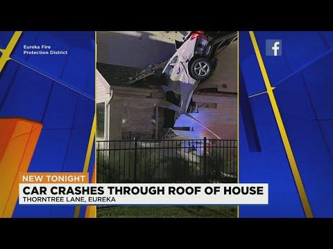 Speeding-car-crashes-through-roof-of-Eureka-home