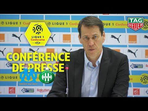 Conférence de presse Olympique de Marseille - AS Saint-Etienne (2-0)  / 2018-19
