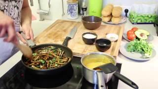 Рецепт №1 - Сэндвич с Сейтаном и грибами Шиитаке