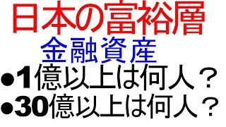 資産1億円以上の日本人富裕層は何人いるのか