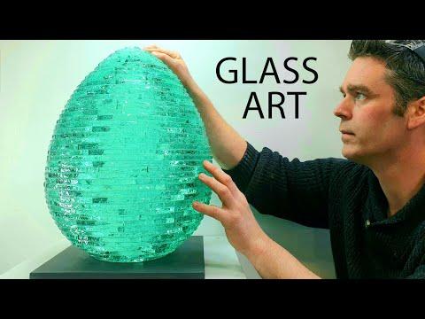 GLASS ARTIST SCULPTING An EGG From BROKEN GLASS   James Parker Sculpture