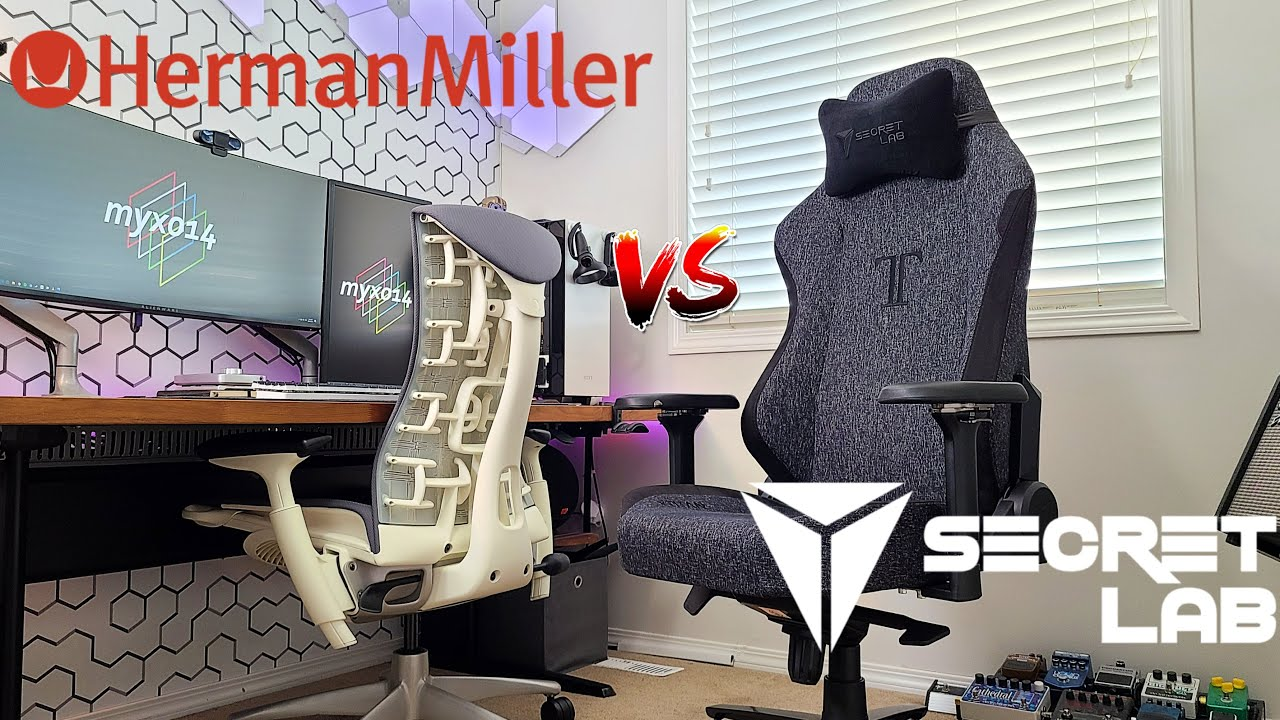 The TITAN Of All Gaming Chairs | Secretlab Titan vs Herman Miller Embody vs Steelcase Leap V2 Review