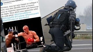 Bokser w Paryżu we Francji Broni Żółtych Kamizelek a może Atakuje Policję? - Analiza Komentator