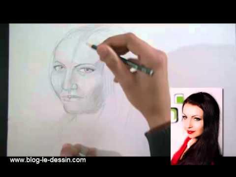 apprendre dessiner un visage femme partie 4 youtube. Black Bedroom Furniture Sets. Home Design Ideas