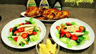 Meals For 2   Fresh Herbal Baked Chicken Strips  Salad