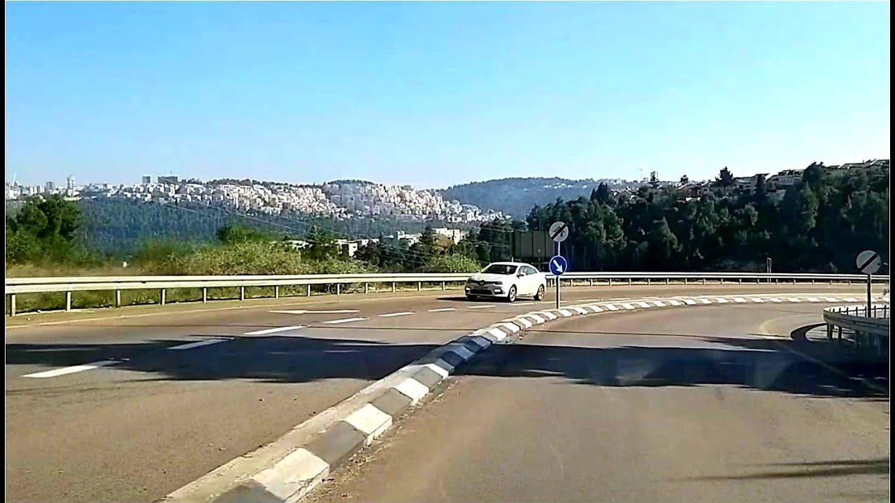 Driving in Israel near Jerusalem