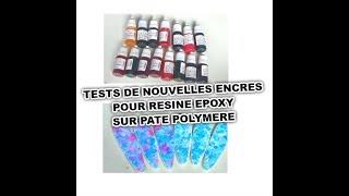 TESTS JEUX D'ENCRES RESINE EPOXY SUR PATE POLYMRE