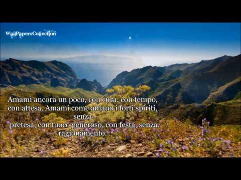 Amore mio - Poesia di Mariangela Gualtieri - Recitata da M.Gualtieri - WallPapersCollection