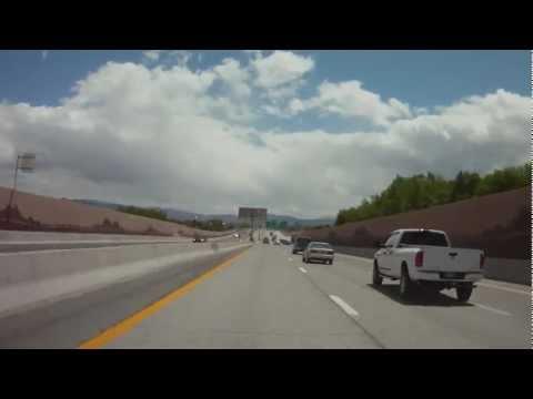 Driving through Reno on Hwy 395