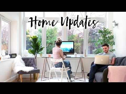DECORATING OUR NEW HOUSE + MINI OFFICE TOUR | VLOG 03
