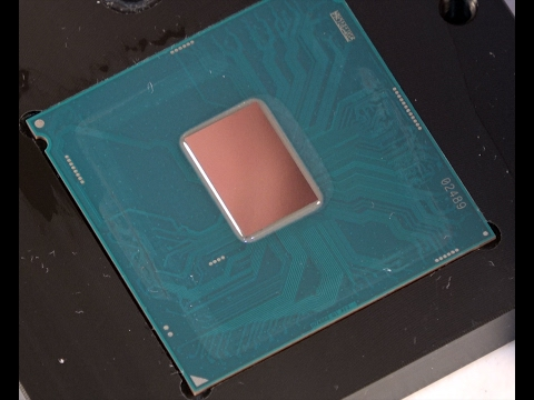 Intel Core i5-7600K Naked Die Installation with Water Block