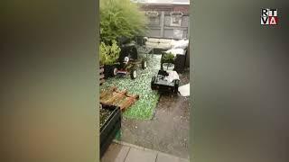 Hagelstenen zo groot als knikkers in delen van Amstelveen