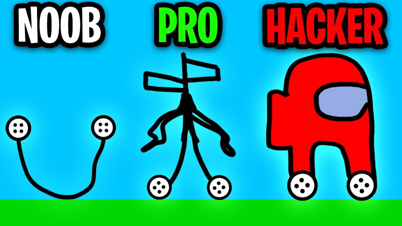 Can We Go NOOB vs PRO vs HACKER In CAR DRAWING GAME!? (AMONG US, SIRENHEAD, HENRY STICKMIN CARS?!)