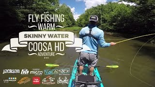 Fly fishing for smallmouth bass from my Coosa HD kayak - Kayak Fishing