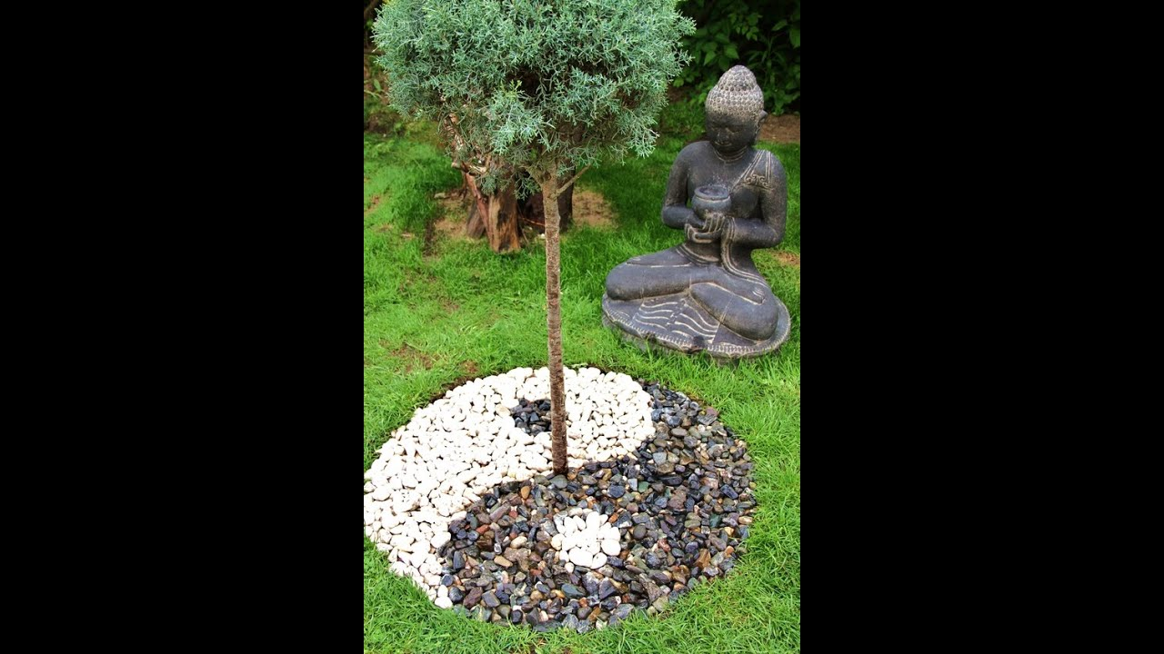 Yin yang de jardin zen en kit apanages youtube for Petit parterre zen
