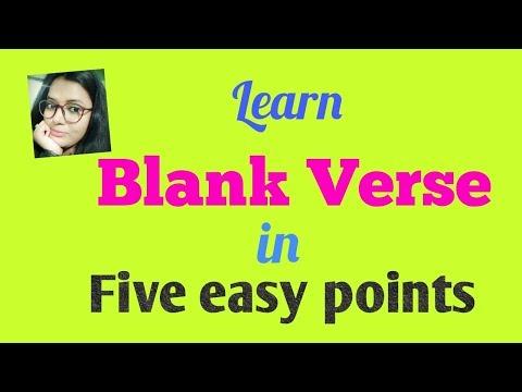 Blank Verse  Learn in Five easy points